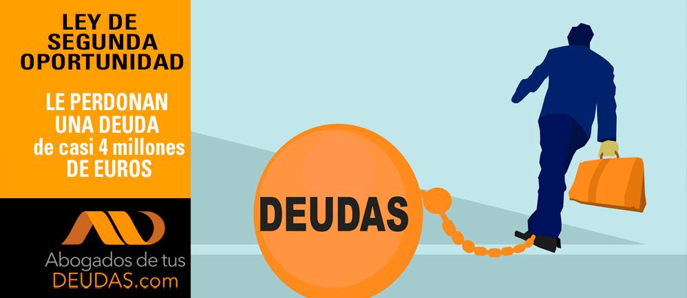perdonan deuda de 4 millones de euros