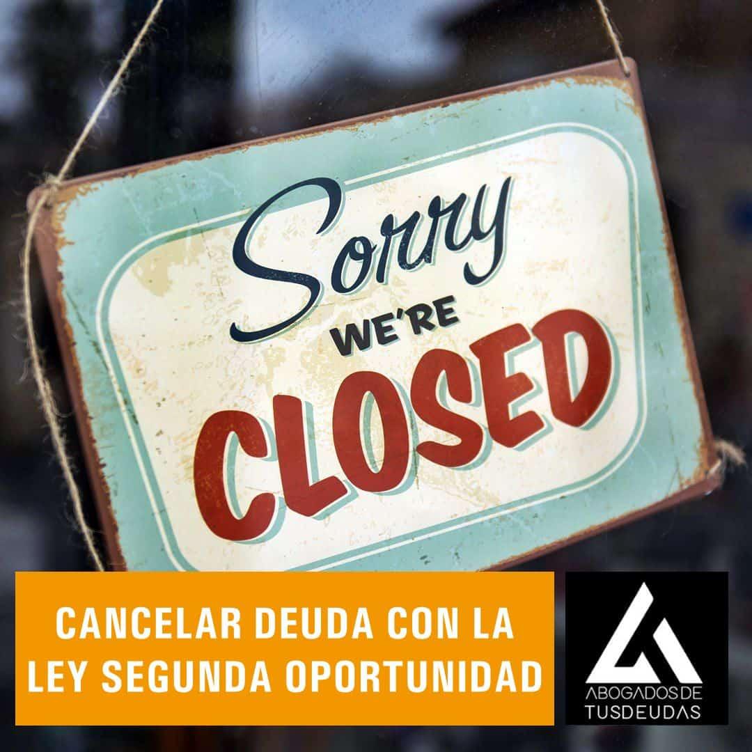 Cancelar deuda con Ley Segunda Oportunidad