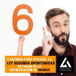 6 razones para utilizar la ley de segunda oportunidad